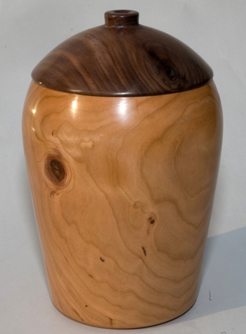 Cherry and Walnut hollow vessel